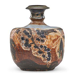 M. WILDENHAIN; POND FARM Vase with grapes