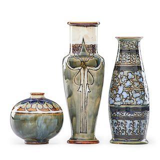ROYAL DOULTON Three vases