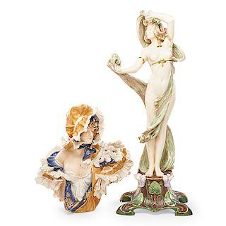 EDUARD STELLMACHER; RSTK Amphora figure and bust