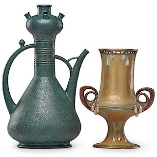 PAUL DACHSEL Two large Amphora vases