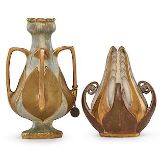 RSTK Two small Amphora vases