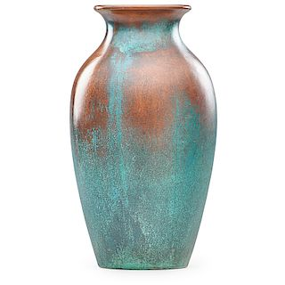CLEWELL Tall copper-clad vase