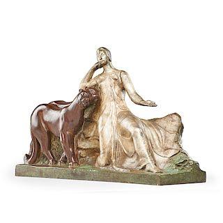 RAOUL LAMOURDEDIEU Art Deco sculpture