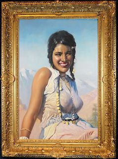 """Oriental Beauty"" Adam Styka (Polish, 1890 - 1951)"