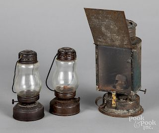 Painted tin Ascot lantern