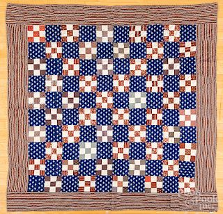 Three pieced quilts
