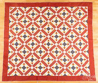 Large pieced floral quilt