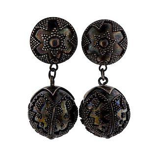 Vintage John Hardy Sterling Drop Ball Earrings