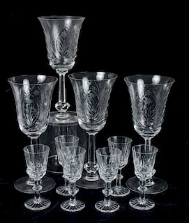 Cut Glass Stemware Group