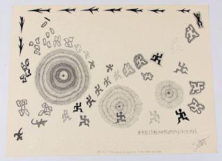 Donald Sultan Original Pen Drawing