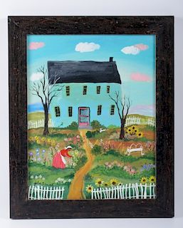 "Julie Schronk ""Mammy's Garden"" Folk Art Acrylic"