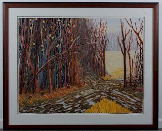 Binsley Tyrrell Landscape Pastel on Paper