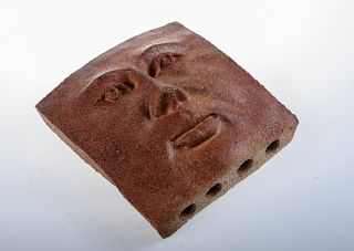 Tosch Studio Art Pottery Face Sculpture, Signed