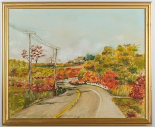 Landscape Oil On Canvas, Signed P. Walsh