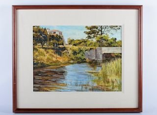 """Henry Richards """"Inlet at San Simeon"""" Oil On Canvas"""