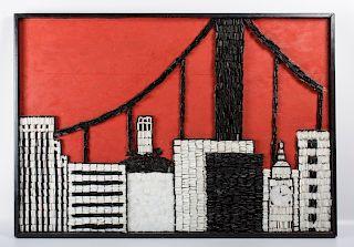 "F.M. Hoven ""San Francisco Collage"" 1965"