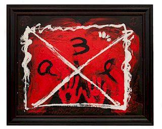 Antoni Tapies Untitled Abstract Mixed Media