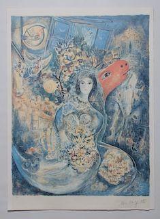 "Marc Chagall ""Bella"" 250 / 500 Photomech. Graphic"