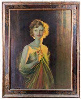 Irving Ramsey Wiles Portrait Oil:  Ada May Weeks