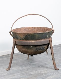 Cast Iron Cauldron / Scalding Pot Kettle