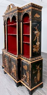 Chinoiserie Block Front Cabinet