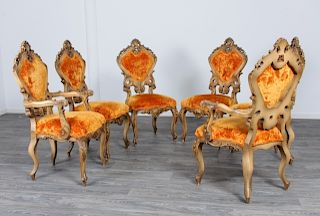 Venetian Style Dining Chairs Group