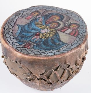 Drum with Painted Head