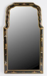 Chinoiserie Decorated Queen Anne Style Mirror