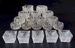 Cut Glass Open Salts Group