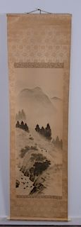 Japanese / Chinese Ink Painting on Silk