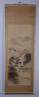 Chinese / Japanese Ink Painting on Silk