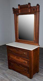 Renaissance Revival Marble Top Dresser
