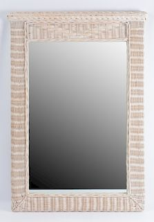Wicker Framed Wall Mirror