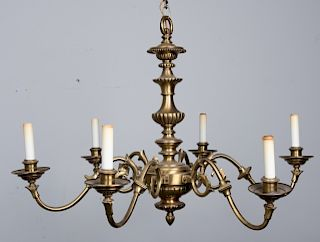 Brushed Brass Chandelier