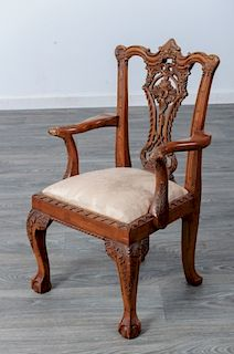 Irish Chippendale Style Child's Arm Chair