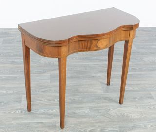 Mahogany Federal Style Folding Top Card Table