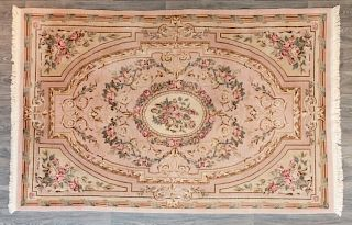 """Indo- Aubusson Wool 5'9"""" x 8'9"""" Area Rug"""