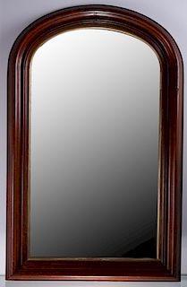 Mahogany Arched Top Mirror