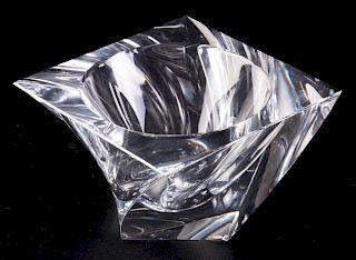 Orrefors Art Glass Tornado Bowl