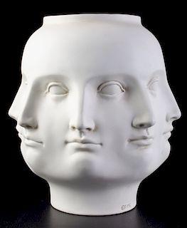 Piero Fornasetti Style Perpetual Face Vase