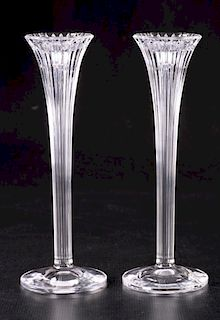 Waterford Crystal Candle Holders Pair