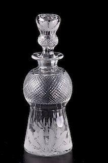 Edinburgh Scotland Crystal Thistle Decanter