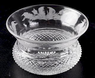 Edinburgh Scotland Crystal Thistle Finger Bowl