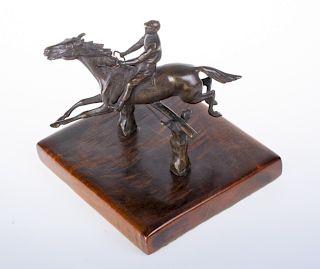 Bronze Equestrian Figure