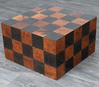 Checkerboard Block Form Coffee Table