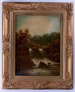 W. Collins Oil on Canvas Landscape
