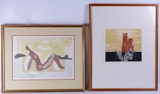 Two Original Abstract Etchings