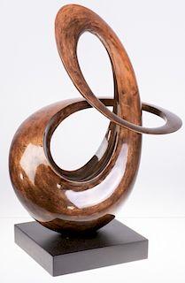 Contemporary Swirl Sculpture
