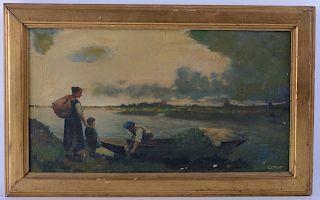 Jean-Baptiste-Camille Corot Oil On Canvas