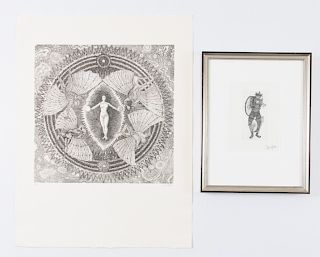 Jacques Houplain Original Etchings
